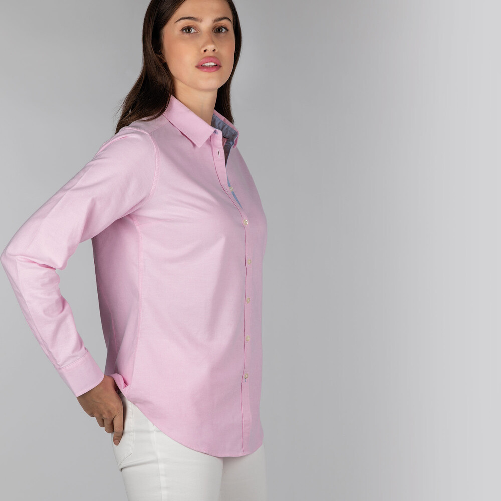 Ladies Soft Oxford Shirt Pale Pink