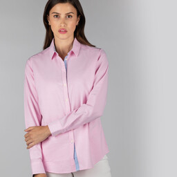 Schoffel Country Ladies Soft Oxford Shirt in Pale Pink
