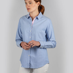 Schoffel Country Ladies Soft Oxford Shirt in Pale Blue