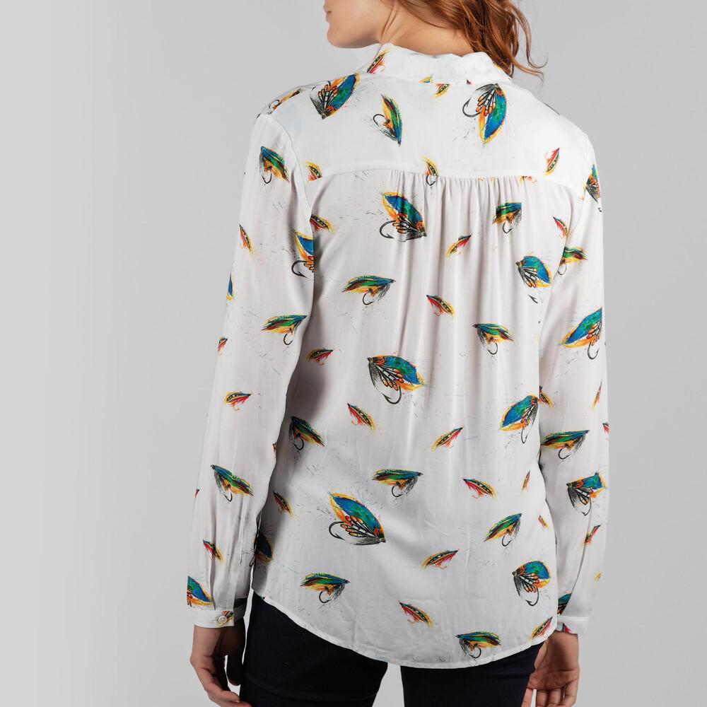 Brownlow Shirt Salmon Fly Print
