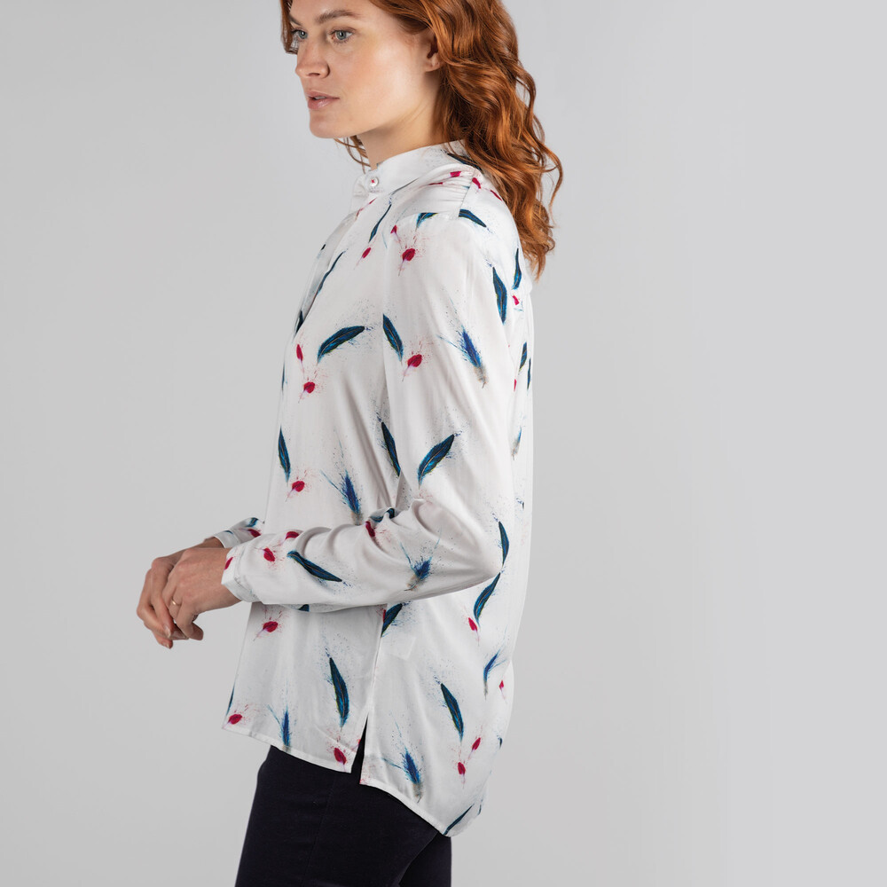 Brownlow Shirt Feather Print