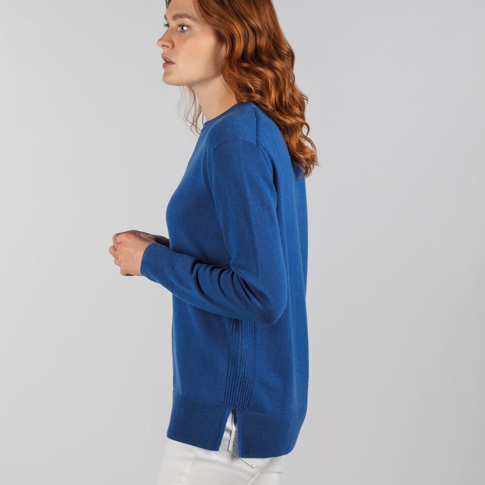 Rose Merino Jumper Mykonos Blue