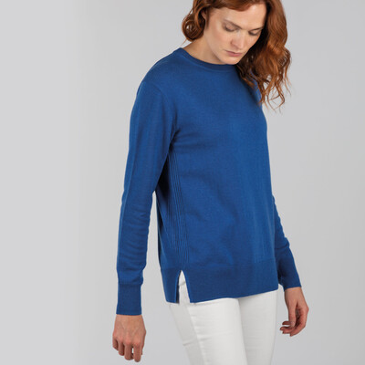 Rose Merino Jumper Mykonos Blue