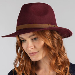 Schoffel Country Willow Fedora in Grape