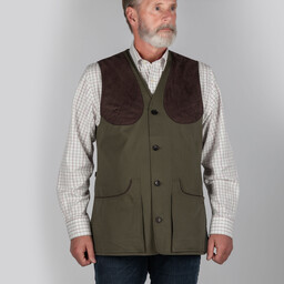 Schoffel Country All Seasons Shooting Vest- in Dark Olive