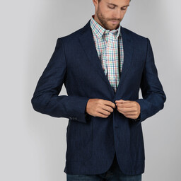 Schoffel Country Linen Blazer in Navy