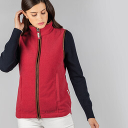 Schoffel Country Lyndon Fleece Gilet in Pomegranate
