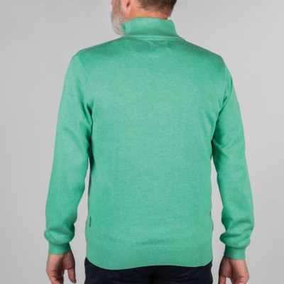 Cotton French Rib 1/4 Zip Mint