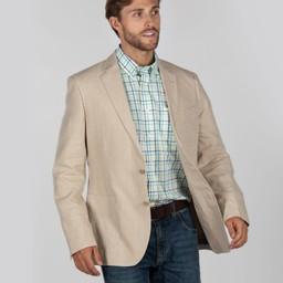 Schoffel Country Linen Blazer in Stone
