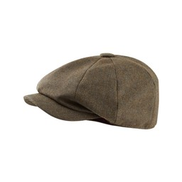 Schoffel Country Bakerboy Cap II in Loden Green Herringbone Tweed