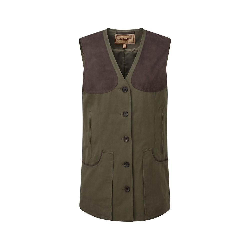 Ladies All Season Shooting Vest- Dark Olive