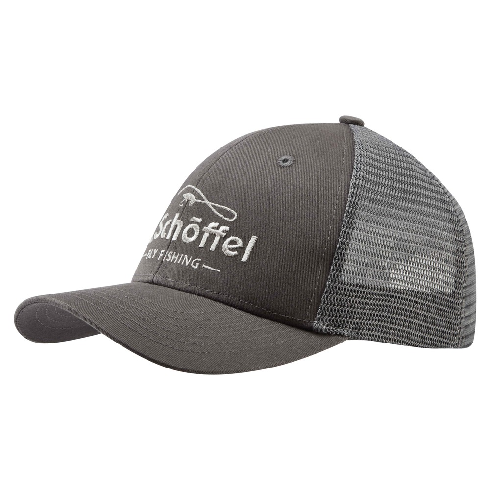 Fly Fishing Trucker Cap Charcoal
