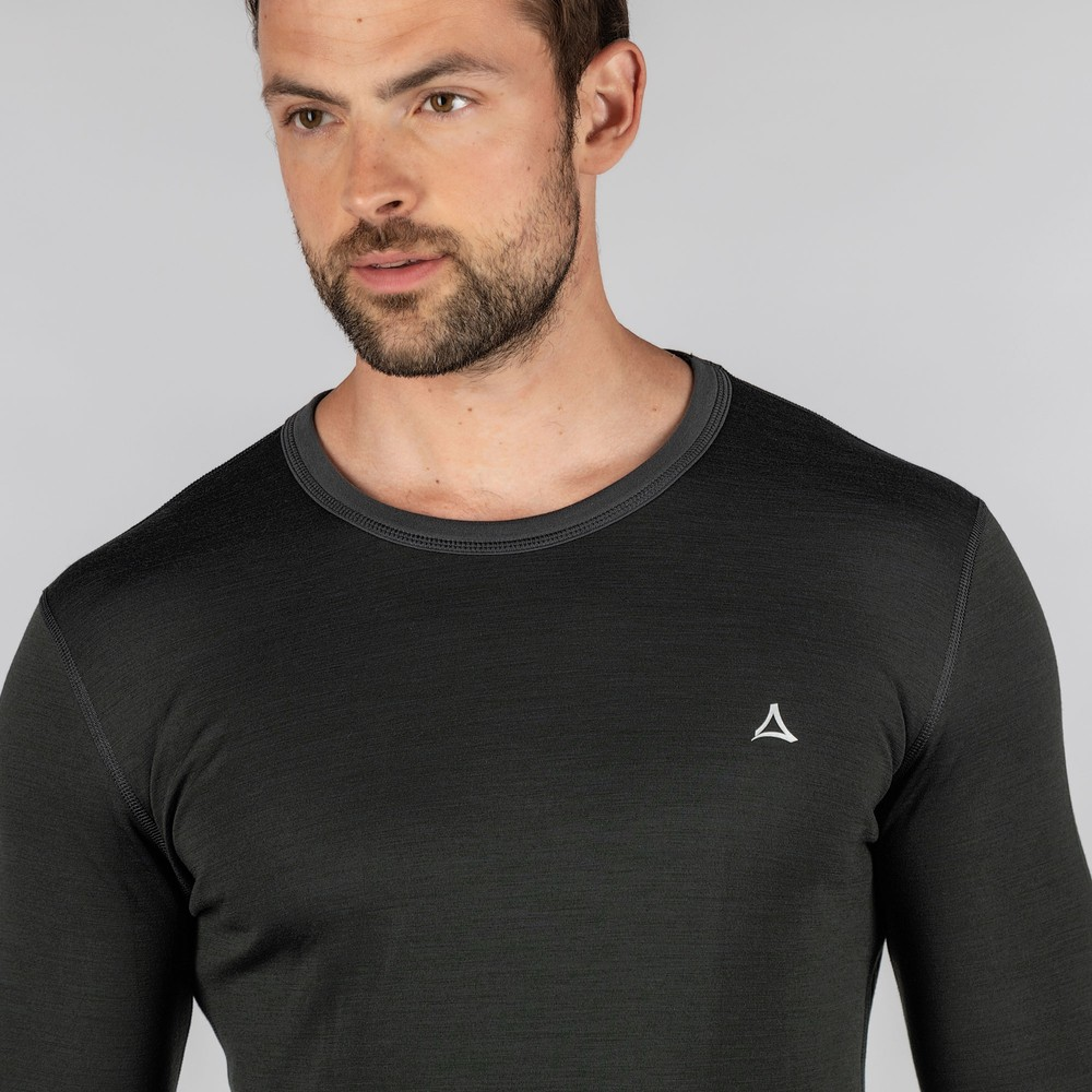 Schoffel Technical Crew Neck Charcoal