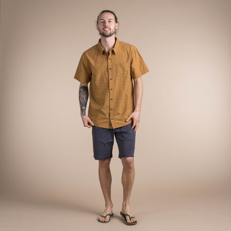 Sherpa Adventure Gear Sikeka Short Sleeve Shirt in Daal Yellow
