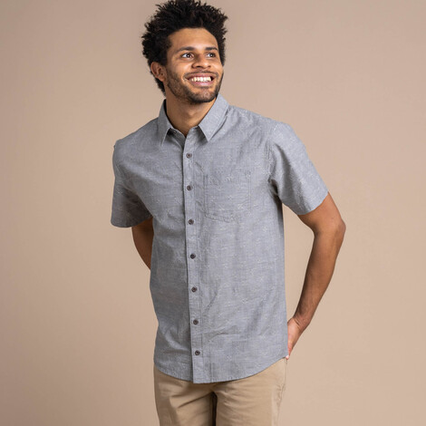 Sherpa Adventure Gear Sikeka Short Sleeve Shirt in Monsoon Grey