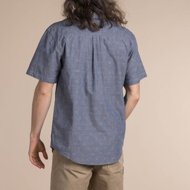 Kurzärmeliges Sikeka-Hemd - Neelo Blue