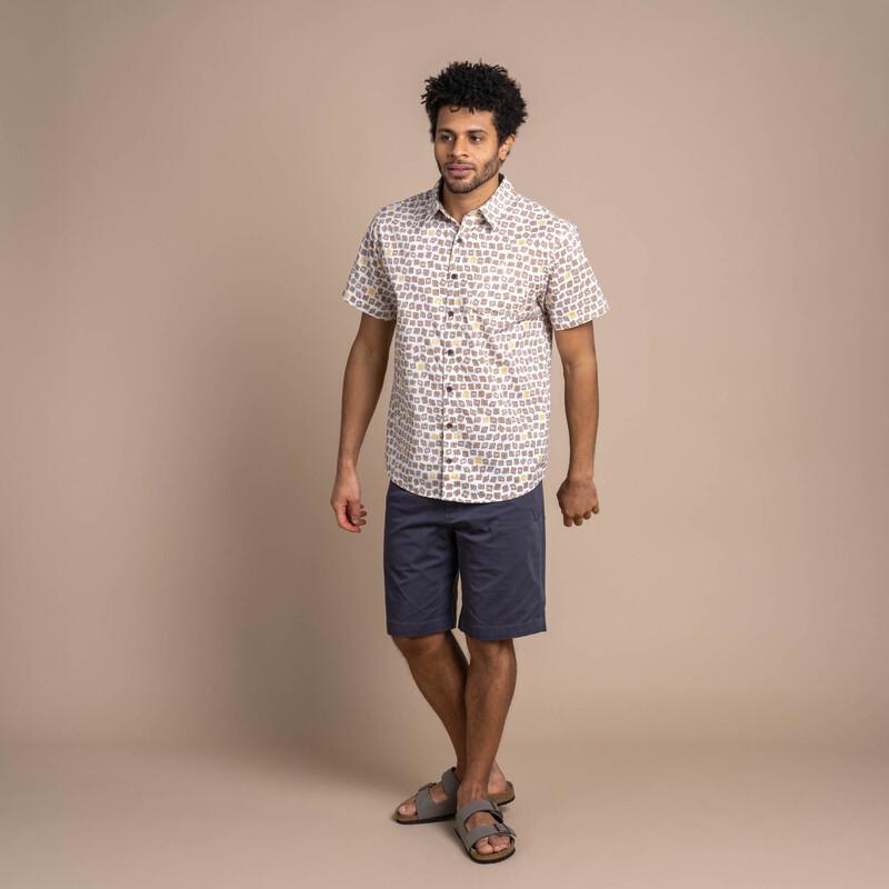 Doori Print Sleeve Shirt - Peetho