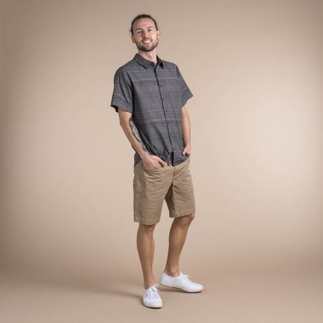 Durbar Short Sleeve Shirt Monsoon Grey
