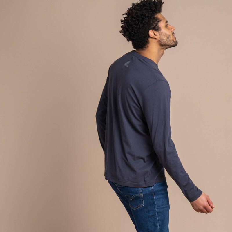 Langärmeliges Tarcho-T-Shirt - Kharani Grey