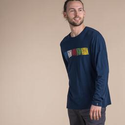 Langärmeliges Tarcho-T-Shirt Rathee Blue