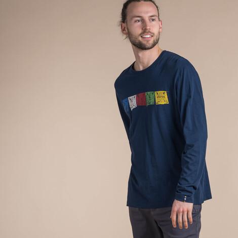 Sherpa Adventure Gear Langärmeliges Tarcho-T-Shirt in Rathee Blue