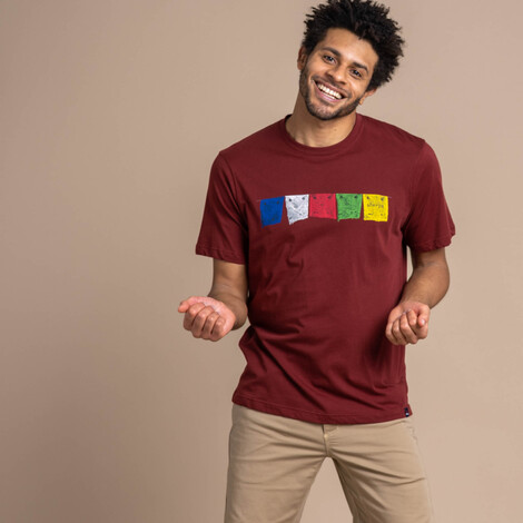 Sherpa Adventure Gear Tarcho Tee in Clay Red
