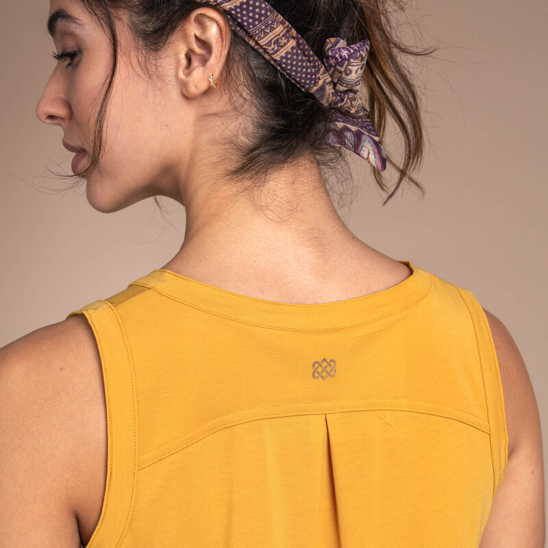 Asha V-Neck Tank - Daal Yellow