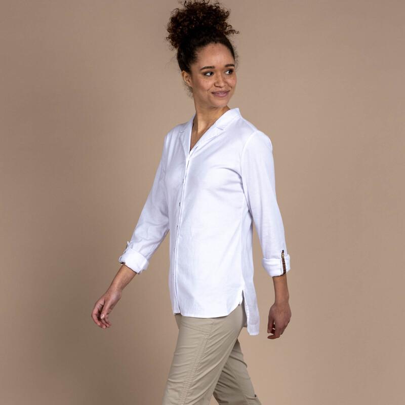 Kiran Long Sleeve Shirt - Katha White