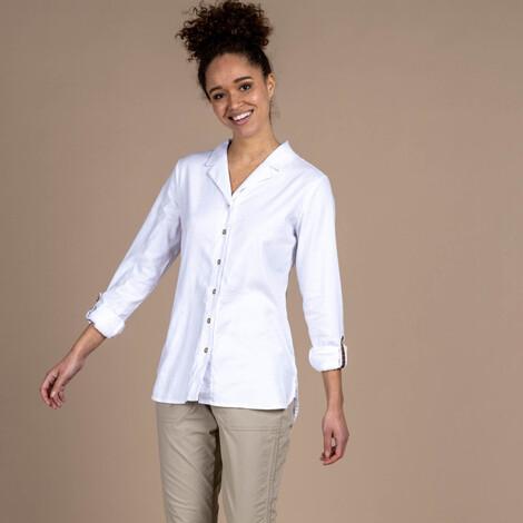 Sherpa Adventure Gear Kiran Long Sleeve Shirt in Katha White