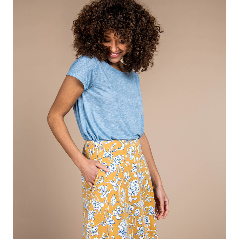 Padma Pull-On Skirt - Daal Yellow