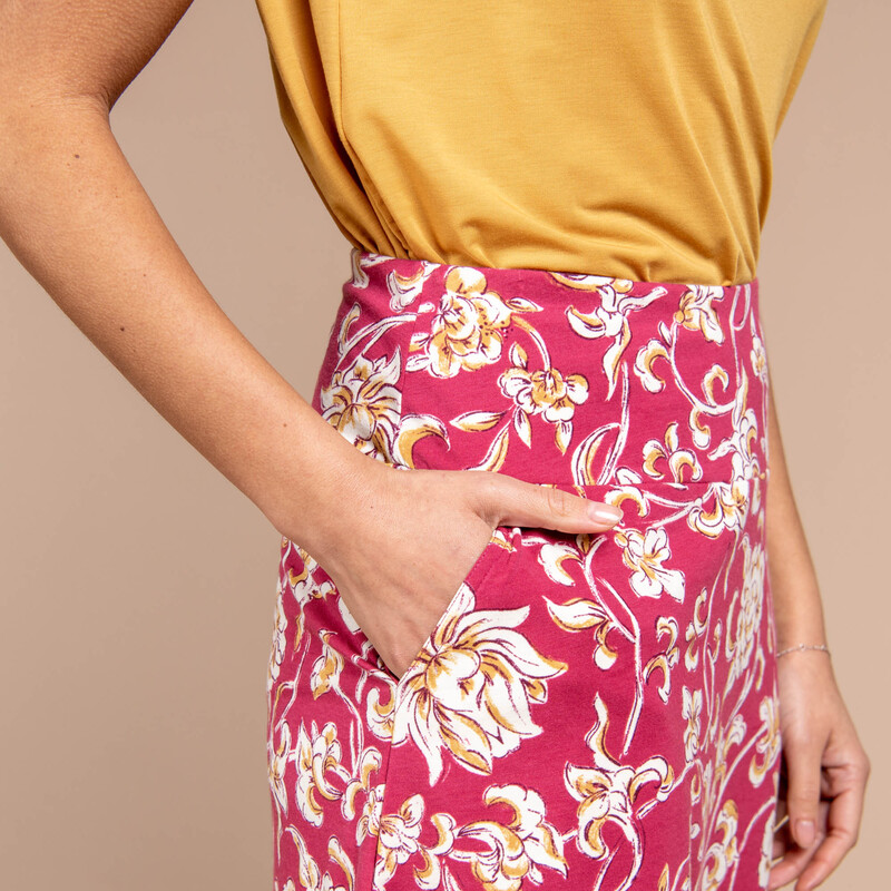 Padma Pull-On Skirt - Rosewood