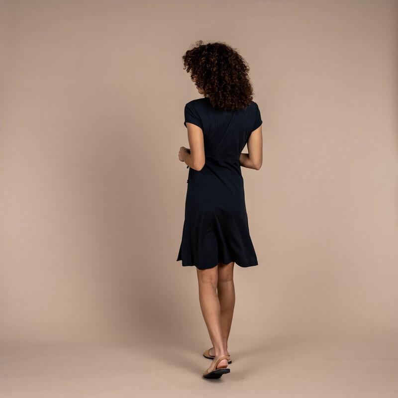 Padma Wrap Dress - Black