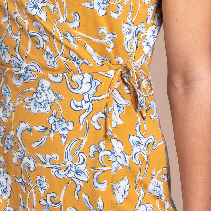 Padma Wrap Dress - Daal Yellow