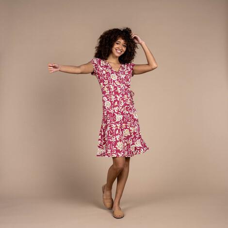 Padma Wrap Dress Rosewood