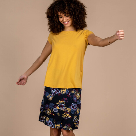 Asha Short Sleeve Tee Daal Yellow