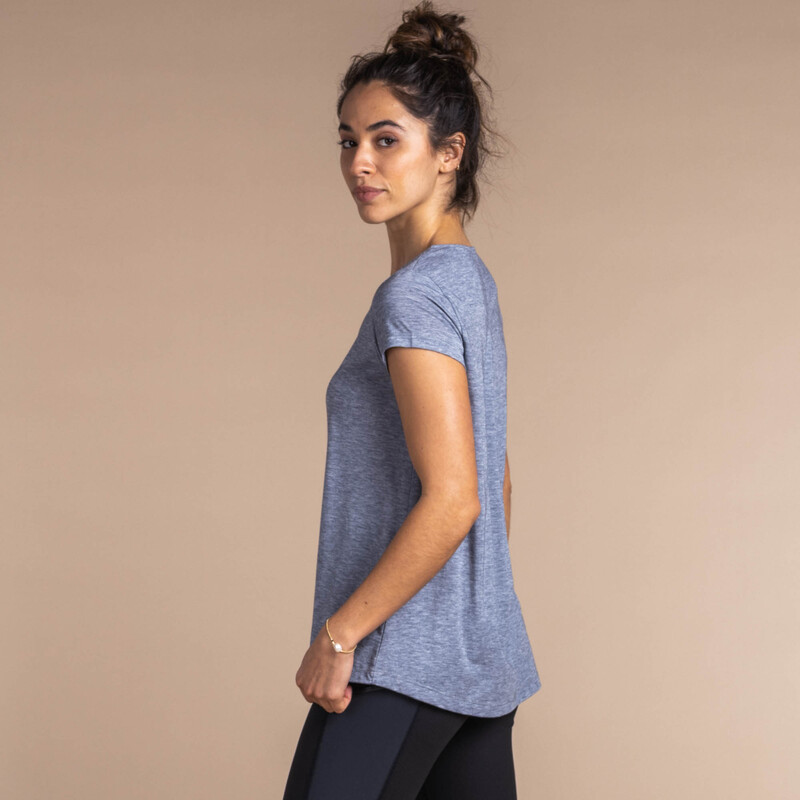 Asha Short Sleeve Tee - Kharani Grey