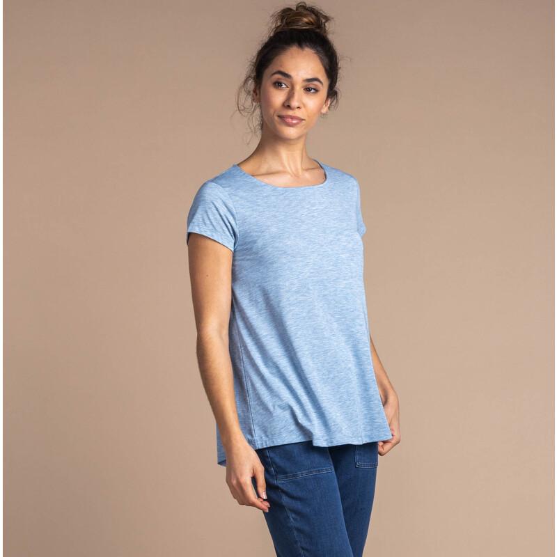 Kurzärmeliges Asha-T-Shirt - Tilicho Blue
