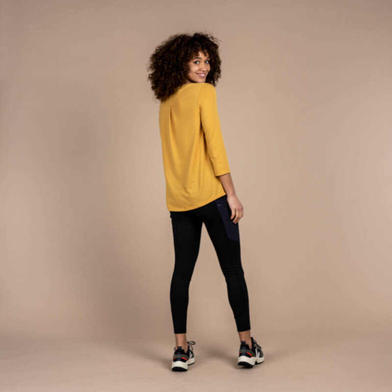 Asha 3/4 Sleeve Top - Daal Yellow
