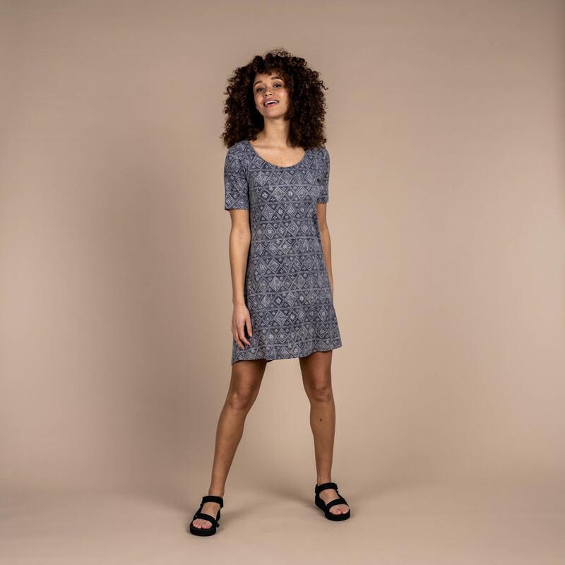 Kira Swing Dress - Smoke Grey