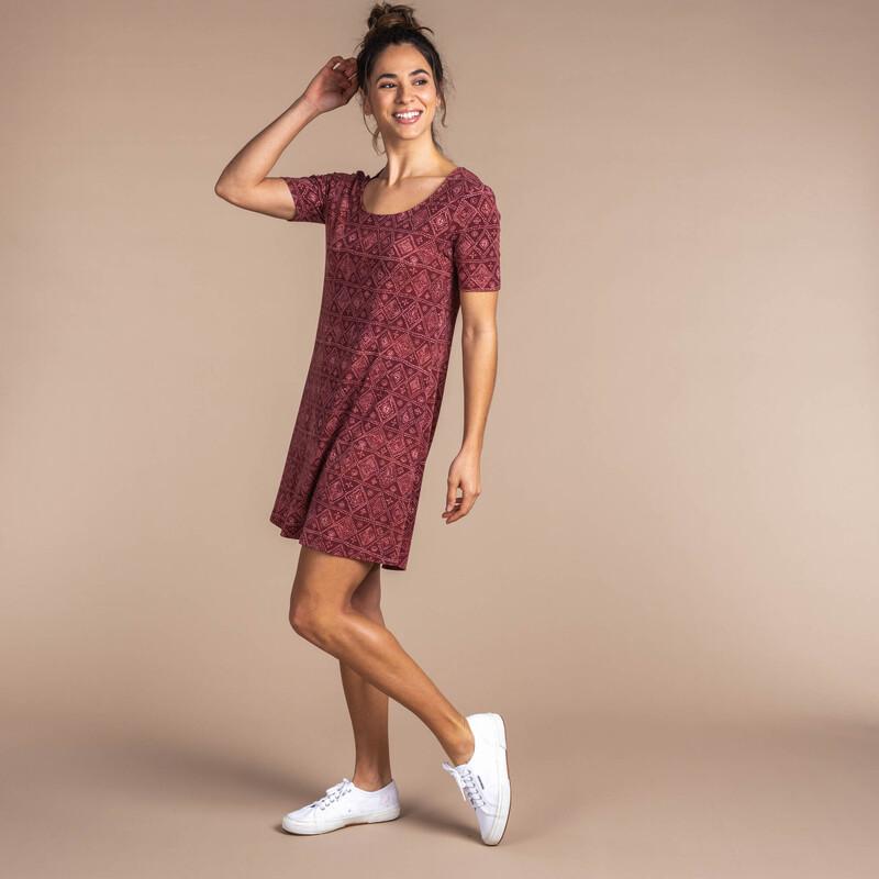 Kira Swing Dress - Clay Red