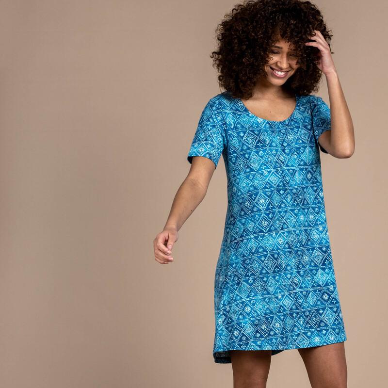Kira Swing Dress - Neelo Blue