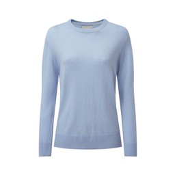 Schoffel Country Rose Merino Jumper in Cool Blue