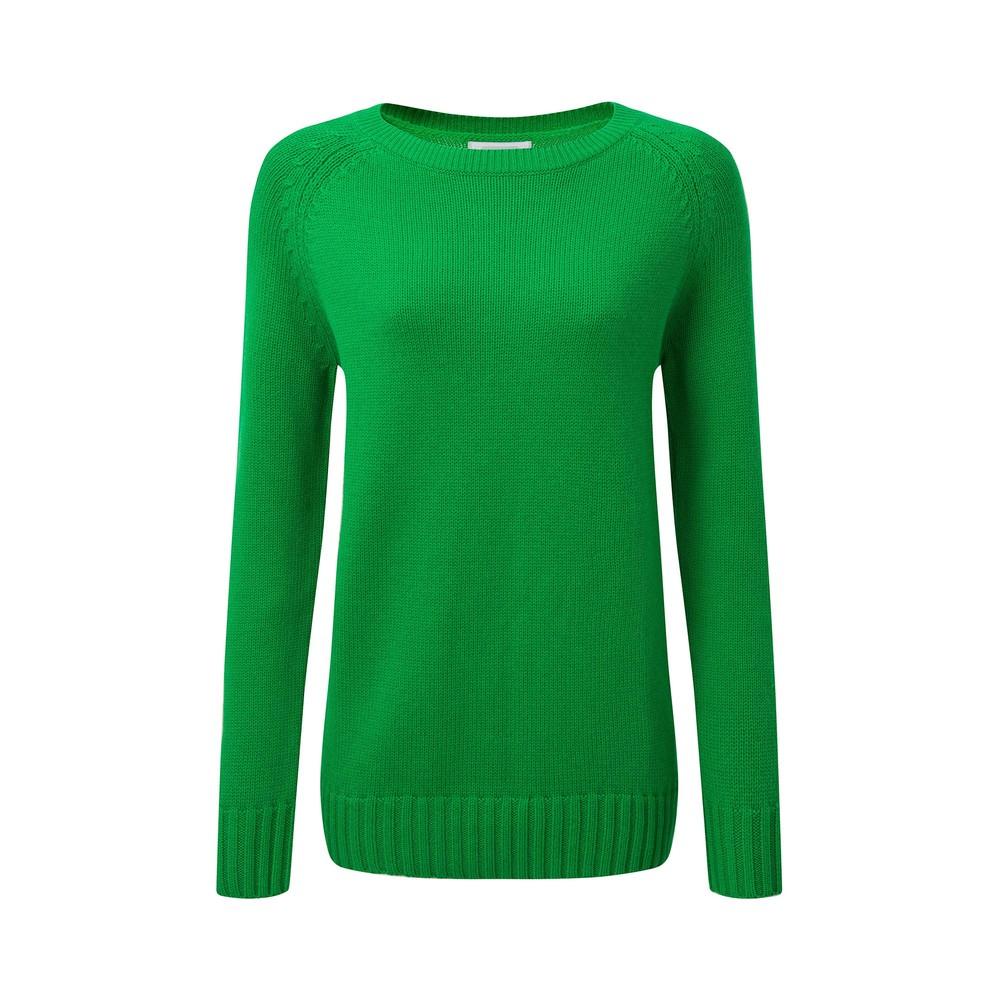 Cornwall Cotton Crew Jumper Emerald