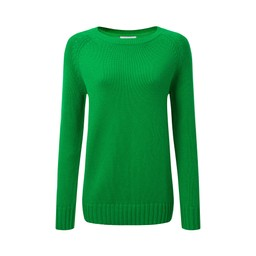 Schoffel Country Cornwall Cotton Crew Jumper in Emerald