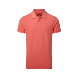 Schoffel Country St Ives Tailored Polo Shirt in Coral