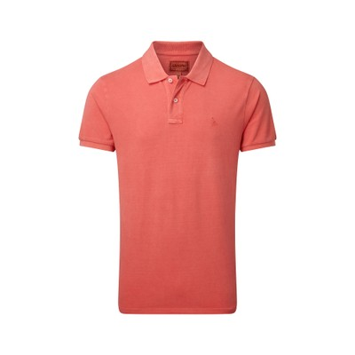 St Ives Tailored Polo Shirt Coral