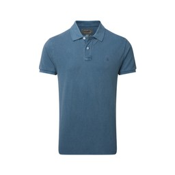 Schoffel Country St Ives Tailored Polo Shirt in Mykonos Blue