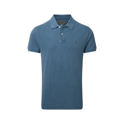 St Ives Tailored Polo Shirt Mykonos Blue