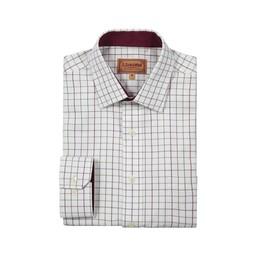 Schoffel Country Burnham Tattersall Classic Shirt in Ruby Check