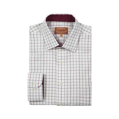 Burnham Tattersall Classic Shirt Ruby Check